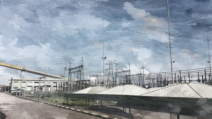 Digital Oil Painting - Power Station - HRY Exclusive