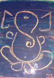 Sree Ganesha Crayon Artwork