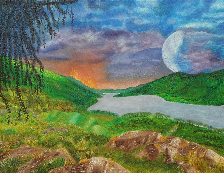 Landscape (oil painting on canvas) - Landscapes