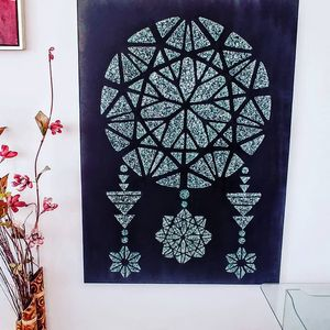 Shattered glass dreamcatcher