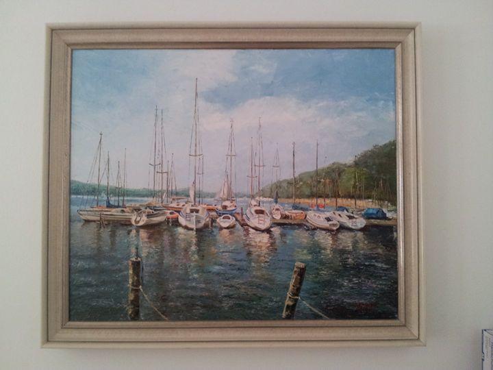 Segelboote - Original paints of Country, Citys, Animals