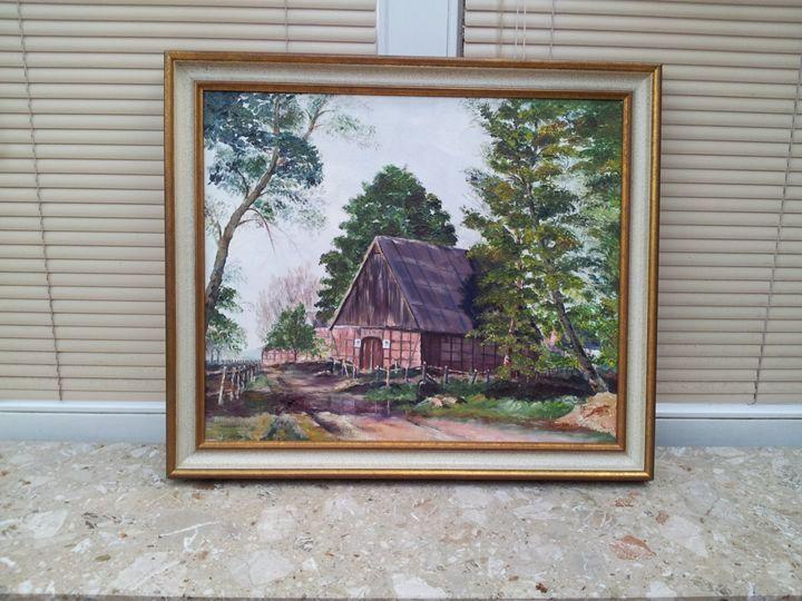 Fachwerkhaus  in der Heide - Original paints of Country, Citys, Animals
