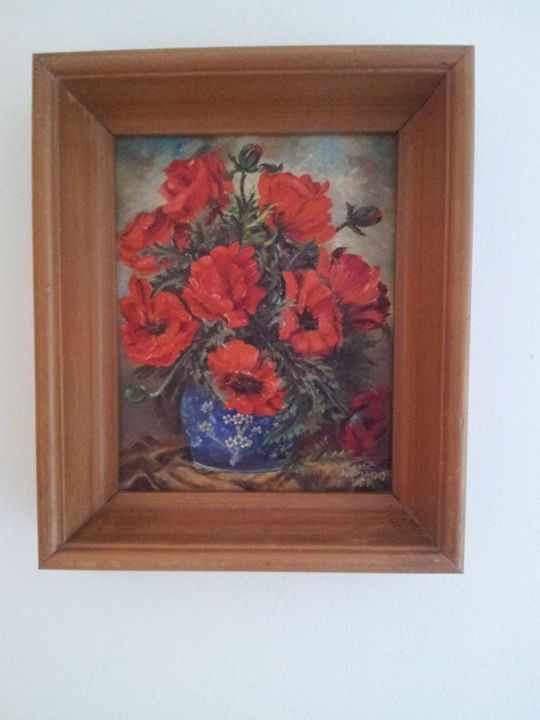 Blumenvase - Original paints of Country, Citys, Animals