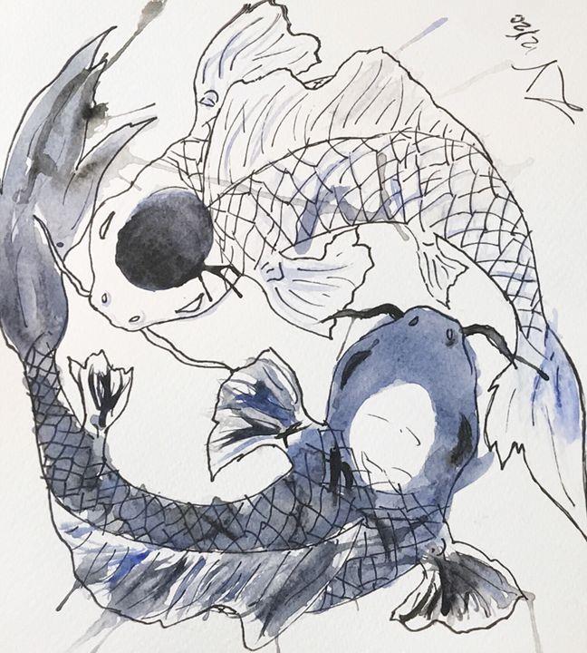 Yin Yang Fish - Lauryn's Art