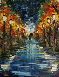 Couple on a Rainy Walk