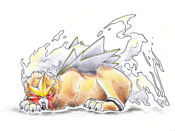 Legendaries - Entei - Indaco_Fox