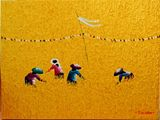 31x24 Bali Rice Field Yellow