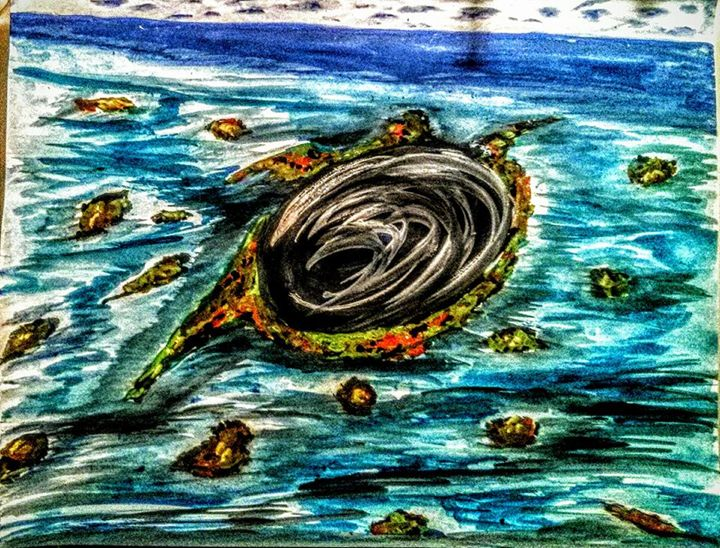 Ocean Hole (Abrar) - Abrar's Painting