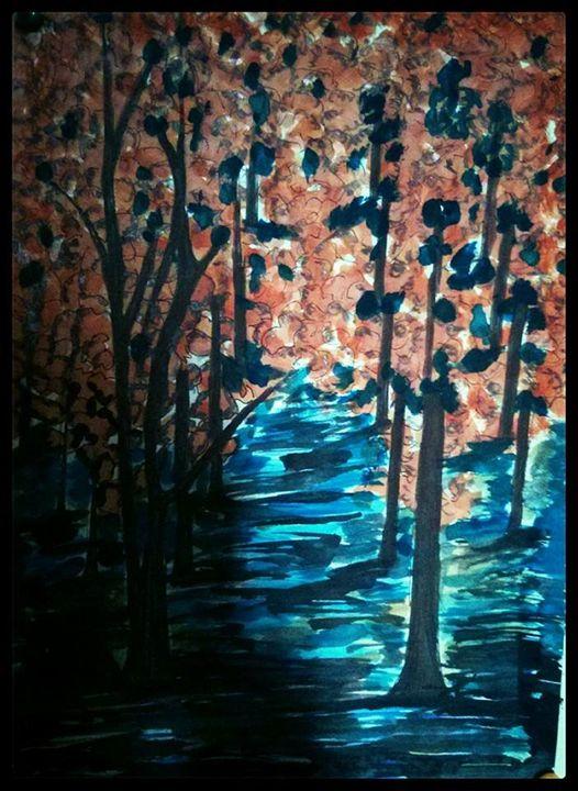 Flooded Garden (Abrar) - Abrar's Painting