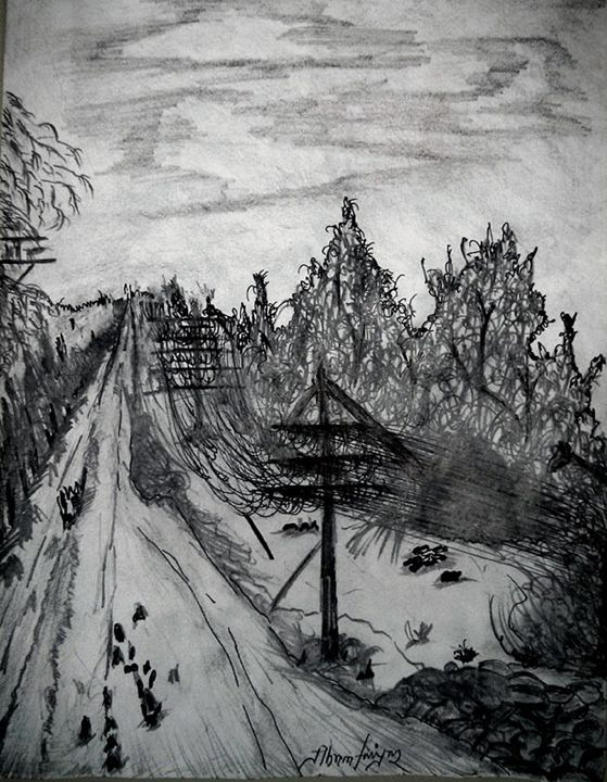 Gloomy weather- Sketch (Abrar) - Abrar's Painting