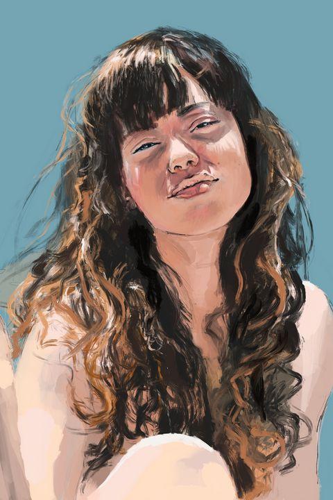 Luna retrato digital portrait - SketchLondon