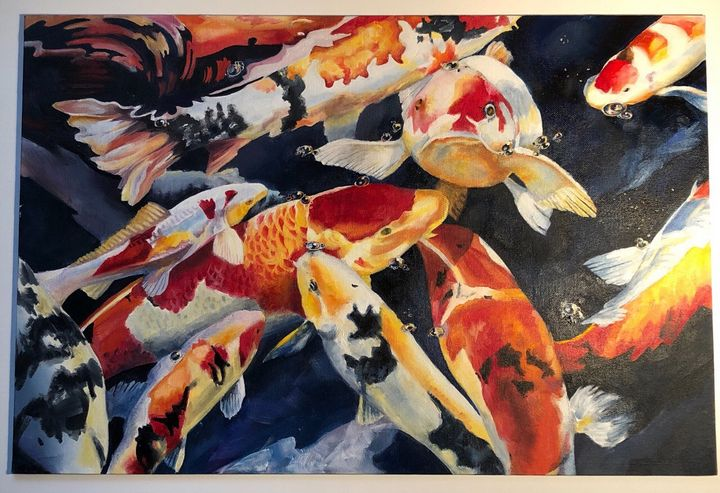 Koi fishes - OilPainting