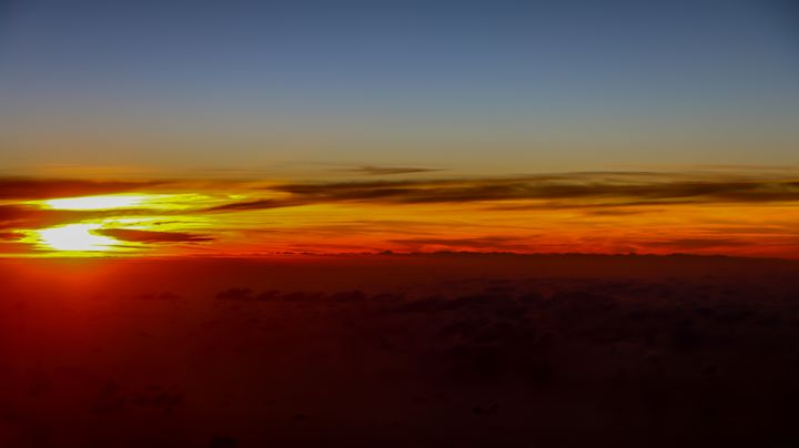 Sunset From a Plane - Eddy West Photography