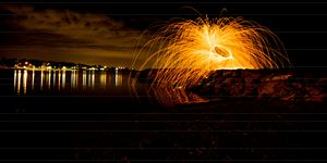 Fire Spinning Williamstown Beach