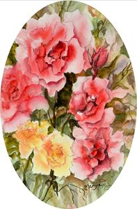 Oval  Roses
