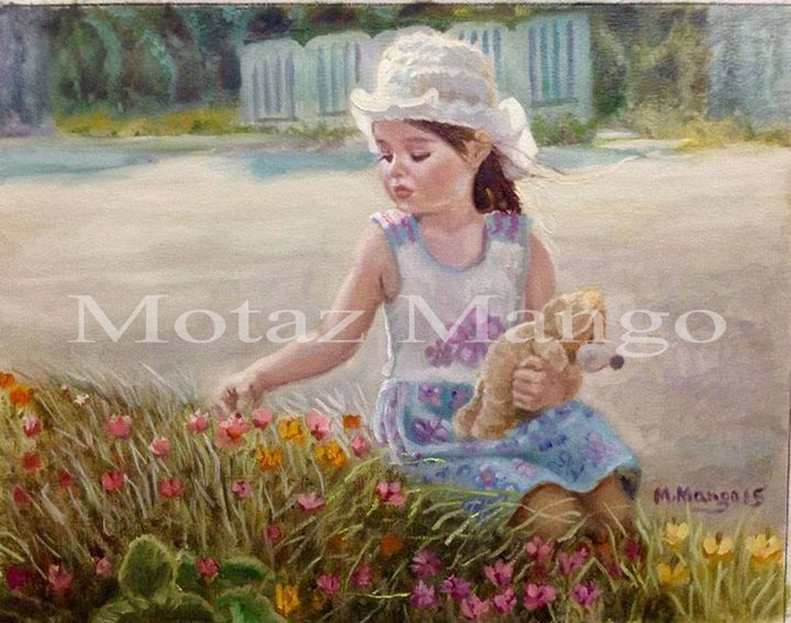 a little girl - My oil paintings