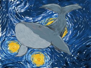 Whale Watching on a Starry Night
