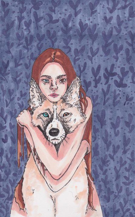 Puppy Love - wwildinkk art