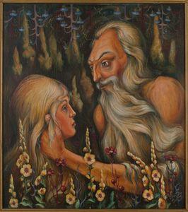 Man and girl