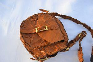 leather brown hand bag