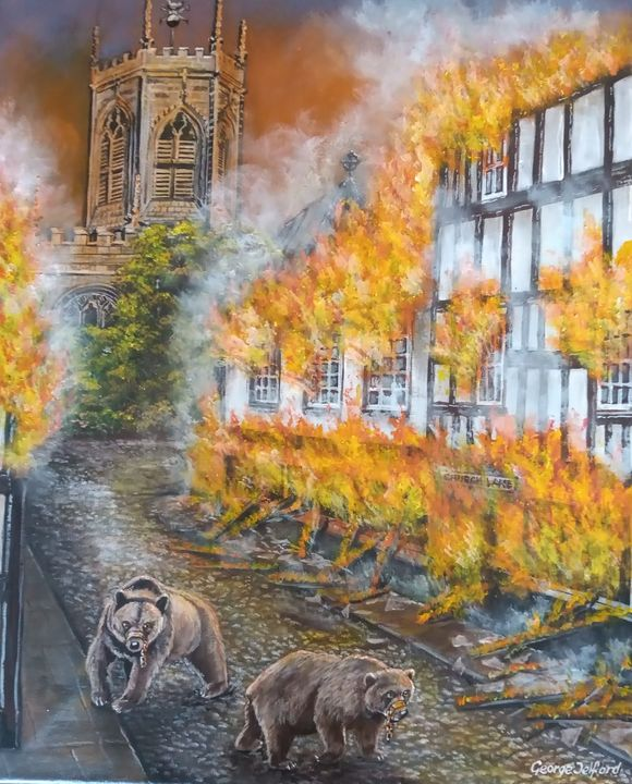 The Great Fire of Nantwich - george telford