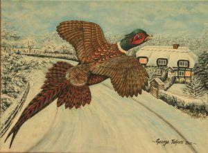 A Startled Pheasant - george telford