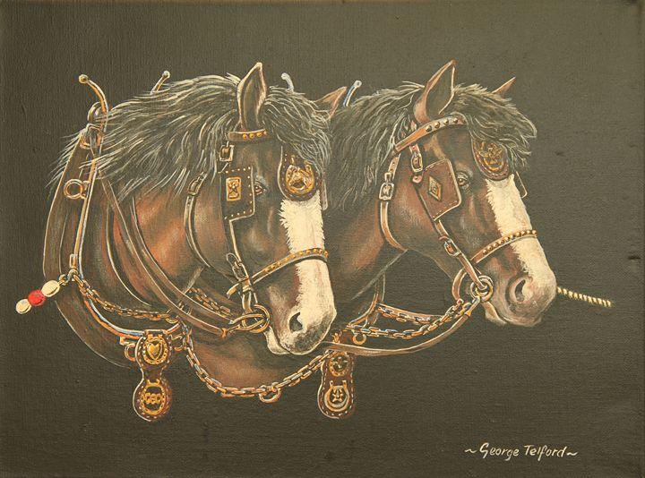 Barge Horses - george telford