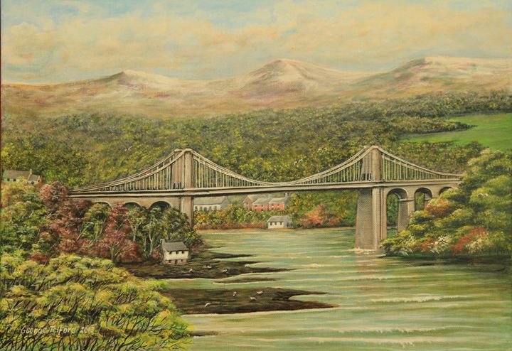 Thomas Telfords Suspension Bridge - george telford