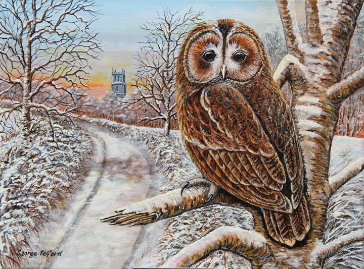 Tawny on the Moss - george telford