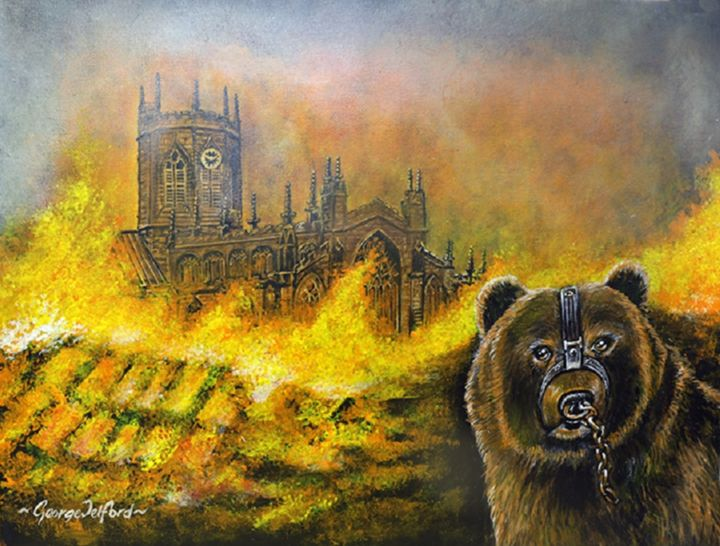 The great fire of Nantwich 1583 - george telford