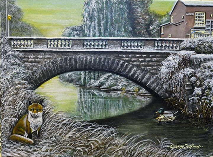 Bridge over the River Weaver - george telford
