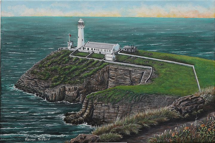 south stack lighthouse , anglesey. - george telford