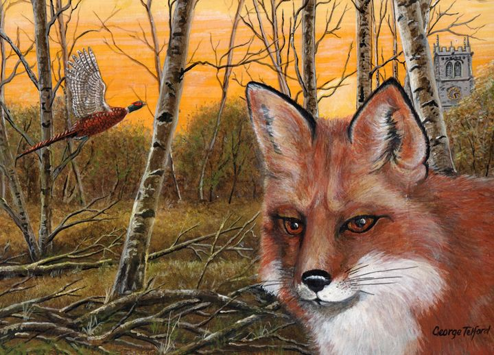 The Vixen on the moss - george telford