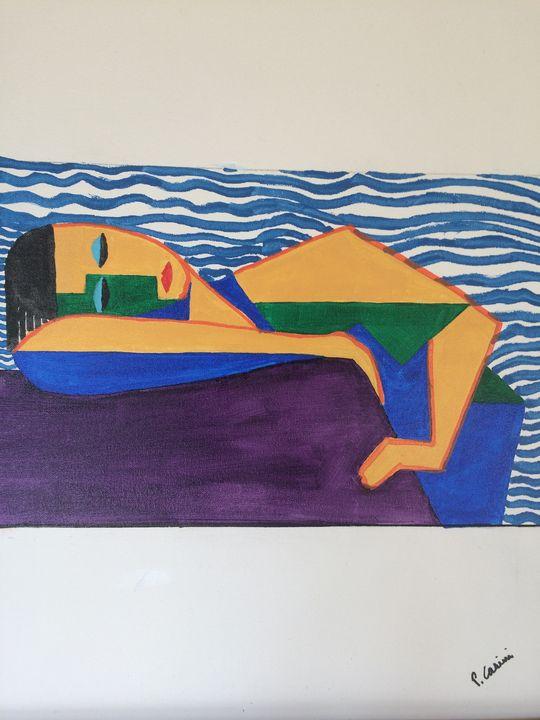 Girl at the beach - Casini Gallery