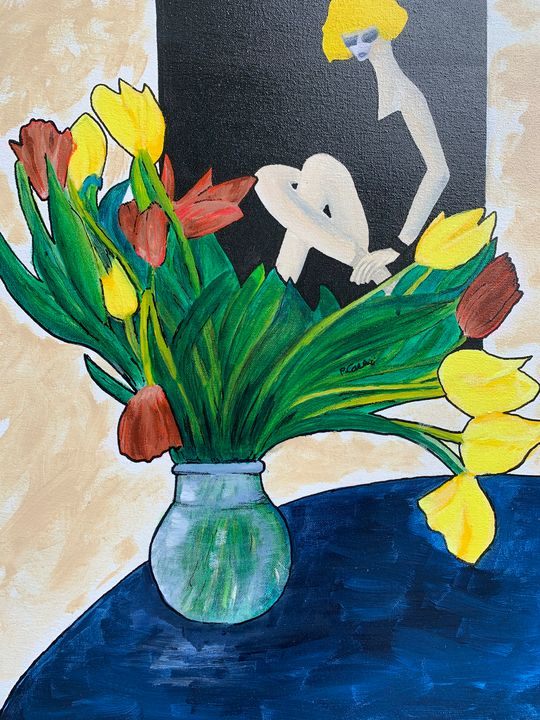 Flowers with Bally Poster - Casini Gallery