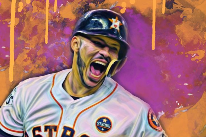 Carlos Correa(Color Series 3) - Pop Visuals