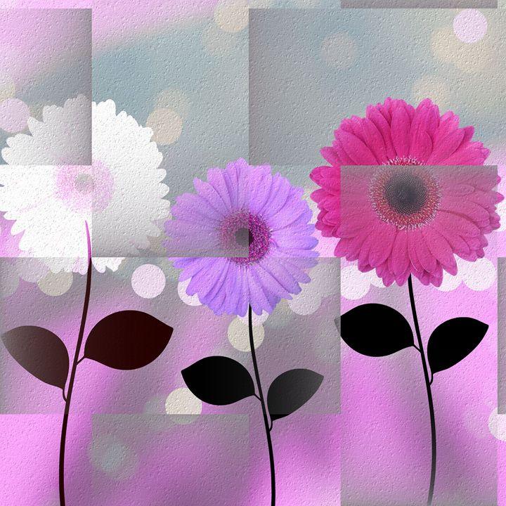 3 Daisies - Peggy Garr