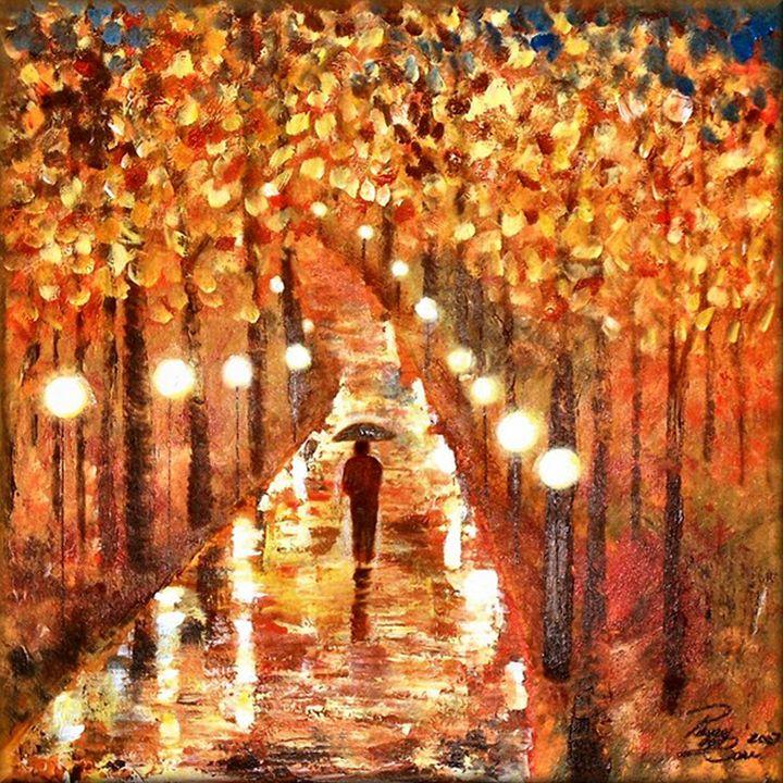 A Walk In The Rain - Peggy Garr