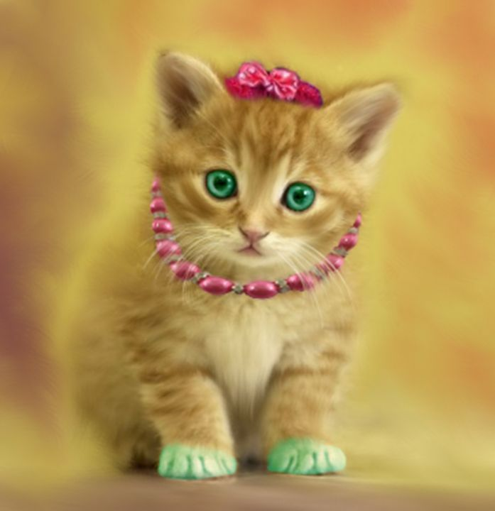 Green Paw Cat - Lourdes Devers Clemente