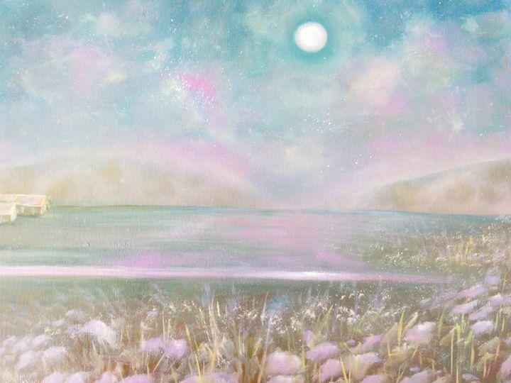 Dawn on the  antelope island - Julia  Raj