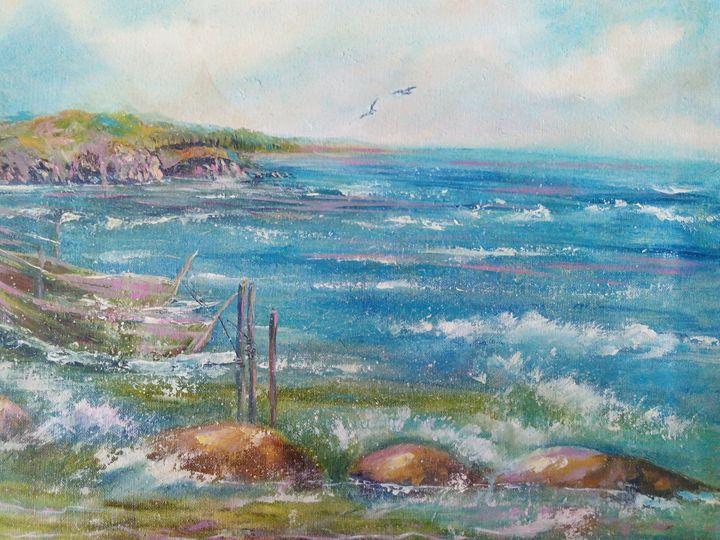 Boats in storm sea - Julia  Raj