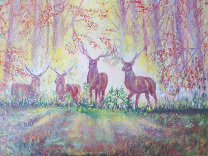 Deer in the  forest - Julia  Raj