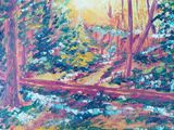 oil painting on canvas, forest