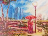 oil painting on canvas, cityscapes