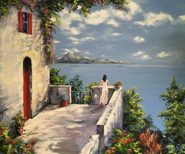 """""""Romantic Mood"""" Oil painting - ArthurVoronov"""