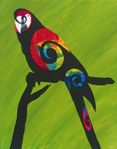 Swirly Bird Macaw