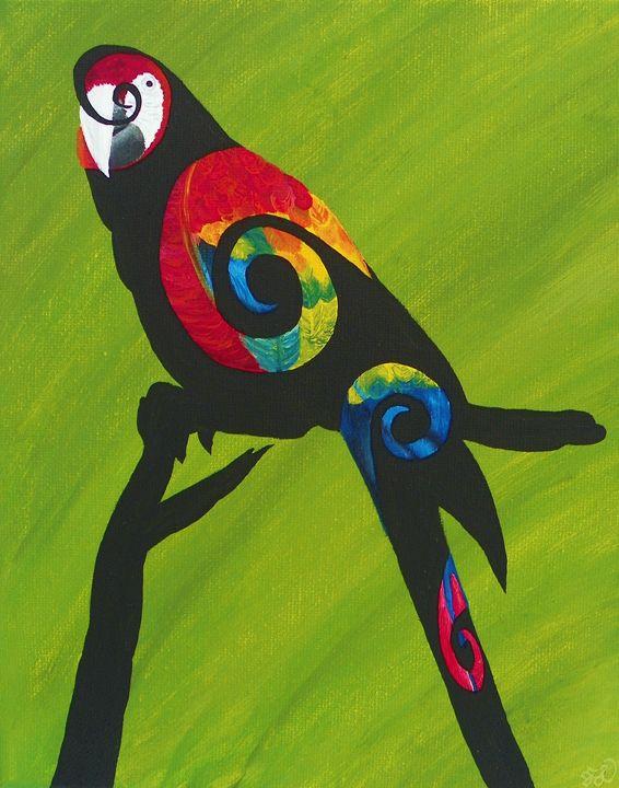 Swirly Bird Macaw - FL Creations