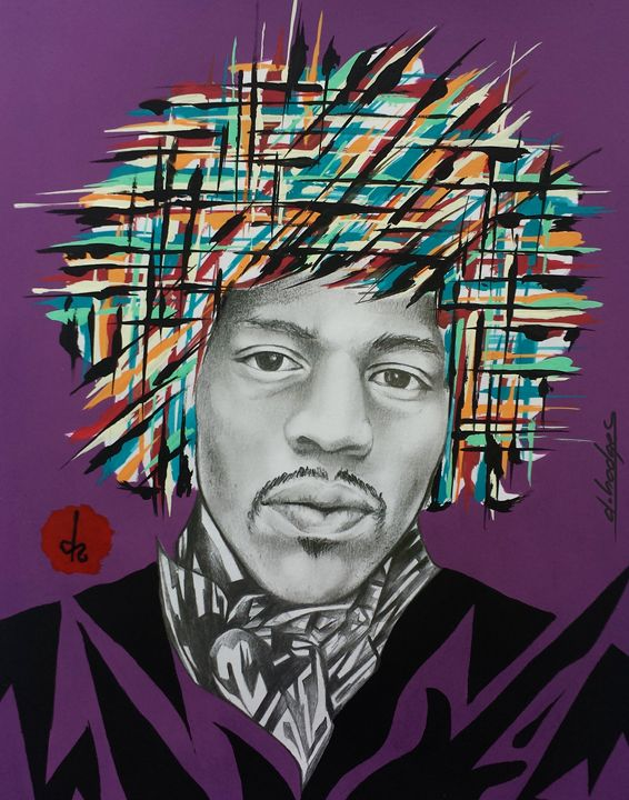 Abstract Hendrix - D.Hodges The Artist