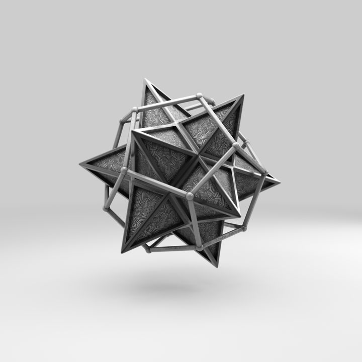 Caged Stellated Dodecahedron - Pär Thorbjörnsson