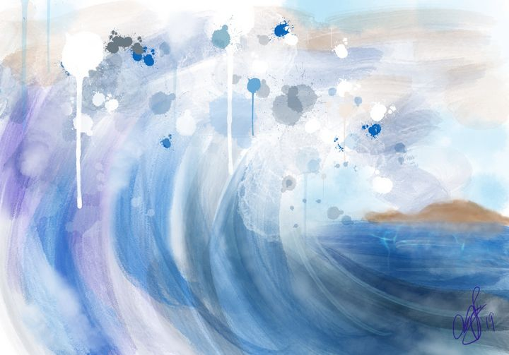 Watercolor Wave - ISurfLikeAGirl